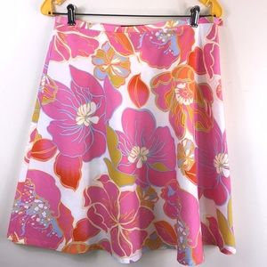Bandolino floral cotton skirt